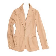 Junya Watanabe Tan Cotton Fitted Blazer