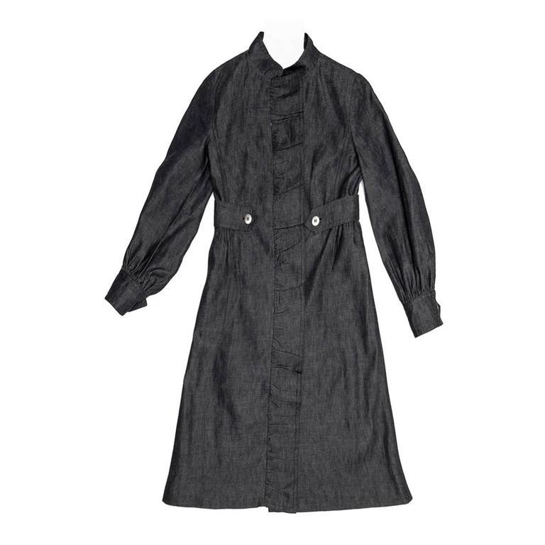 Louis Vuitton Dark Blue Denim Coat