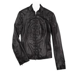 Lwren Scott Black Leather Zip Jacket