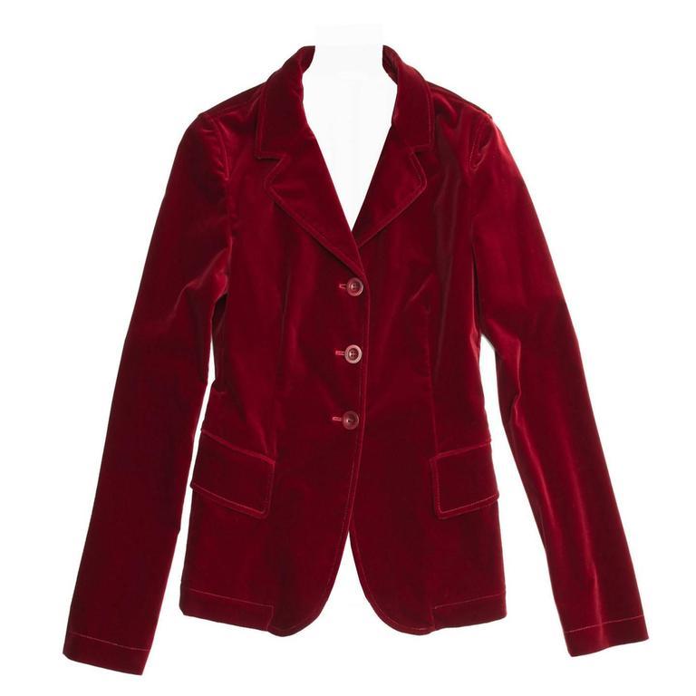Miu Miu Red Velvet Blazer