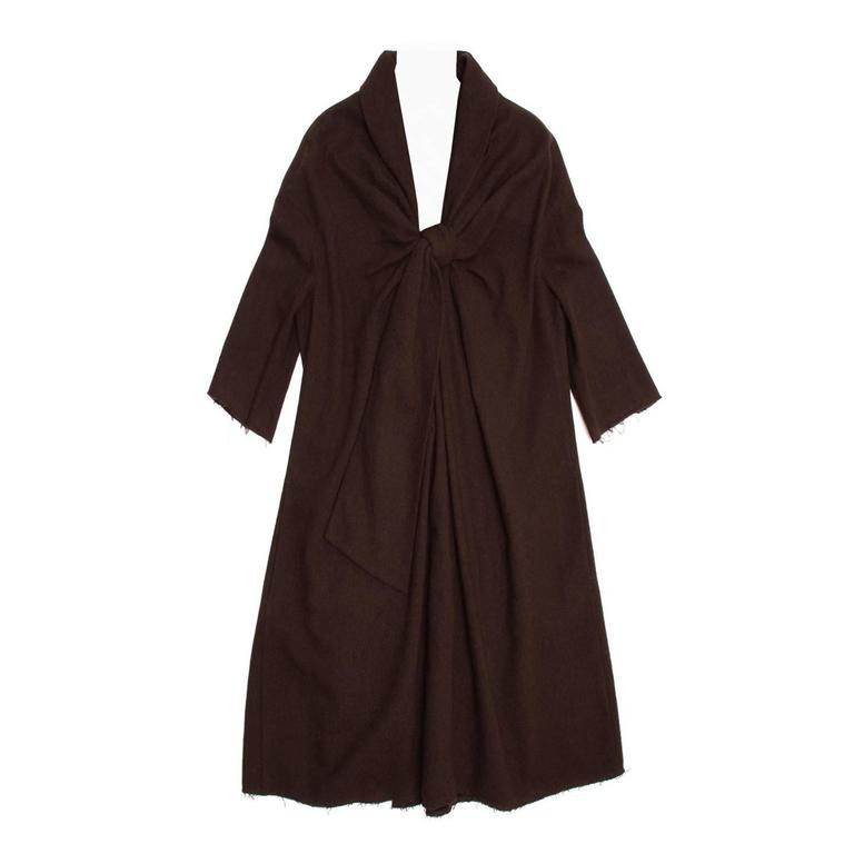 Marc Jacobs Brown Wool Tent Dress For Sale