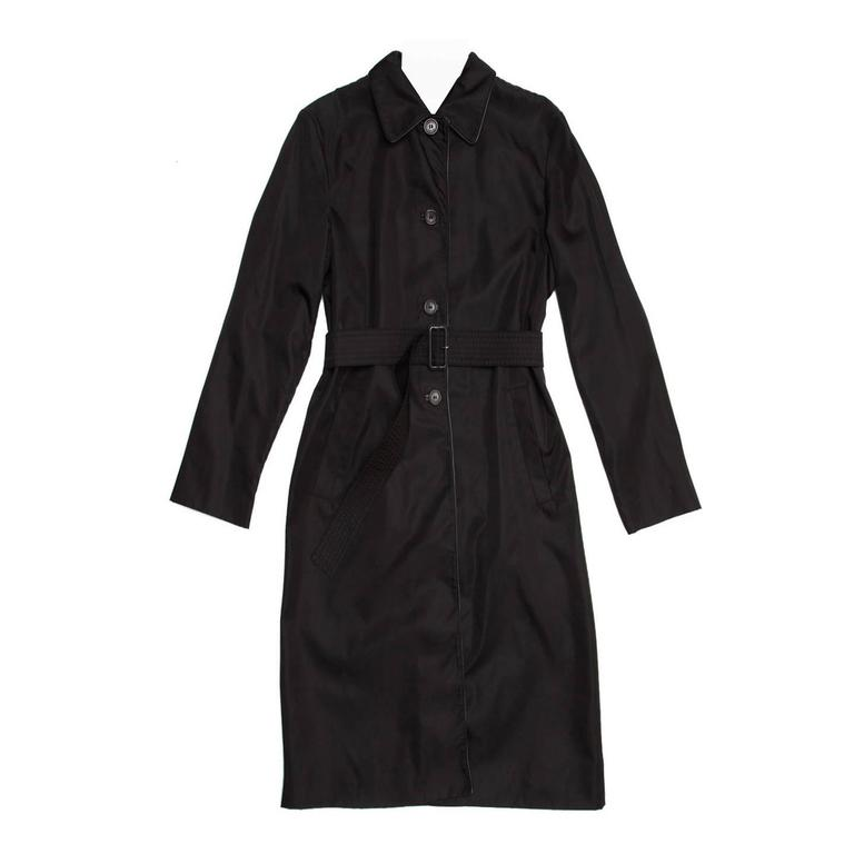 Prada Black Nylon Raincoat