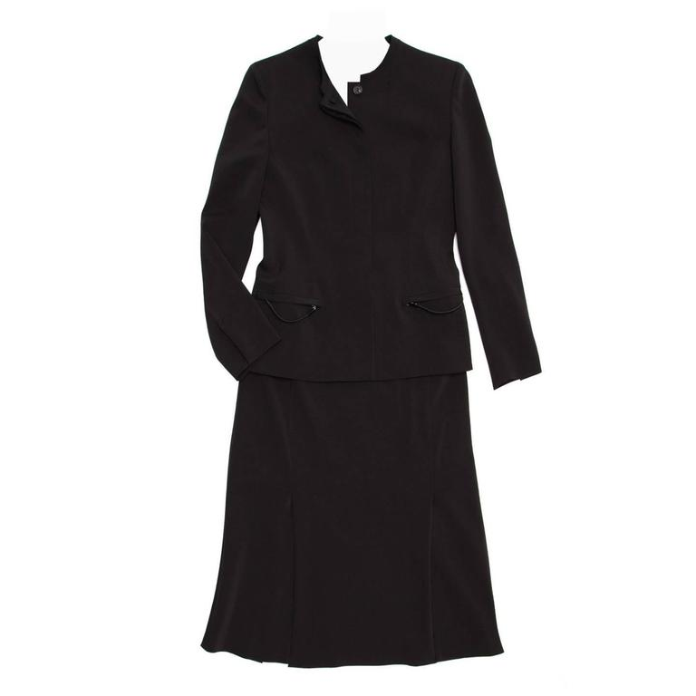 Prada Black Skirted Suit
