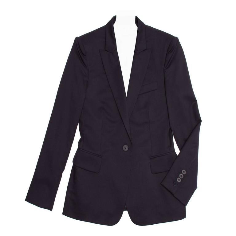Stella McCartney Navy Wool Blazer Navy Buttons