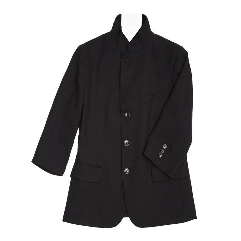 Comme des Garçons Black Wool 3/4 Sleeve Blazer