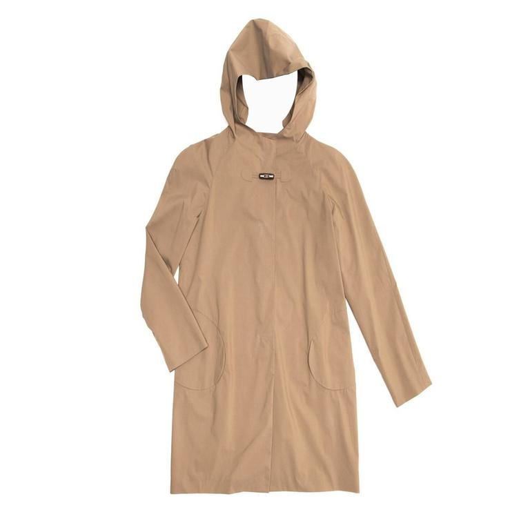 Jil Sander Khaki Hooded Tent Coat