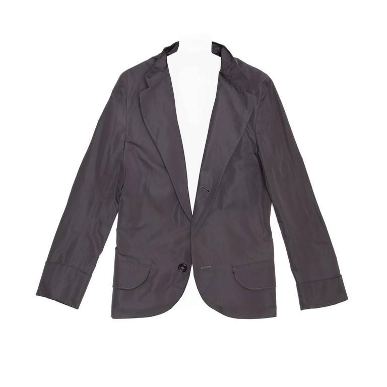 Jil Sander Blue Silk & Polyester Blazer