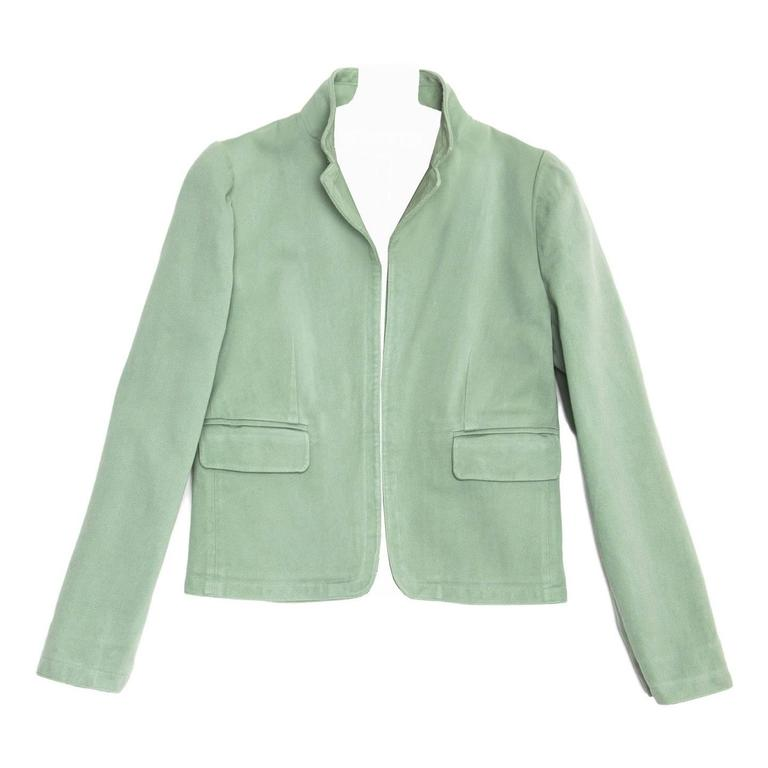 Marni Pastel Green Cotton Jacket