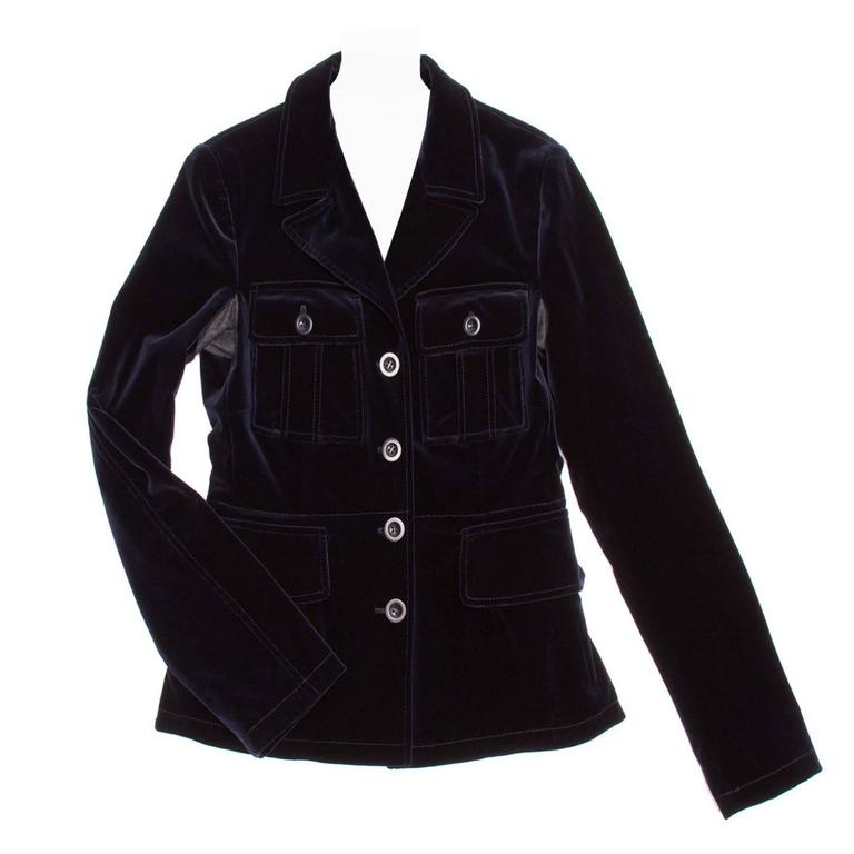 Miu Miu Midnight Blue Velvet Jacket