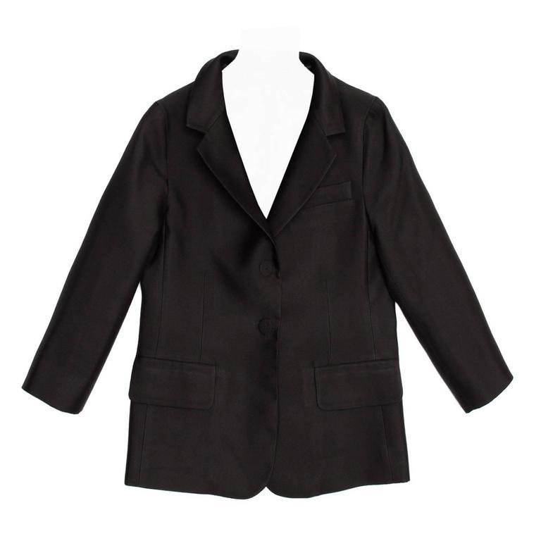 Marc Jacobs Black Silk Shrunken Style Jacket