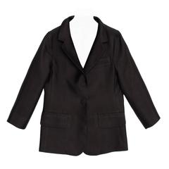 Marc Jacobs Black Silk Shrunken Style Jacket