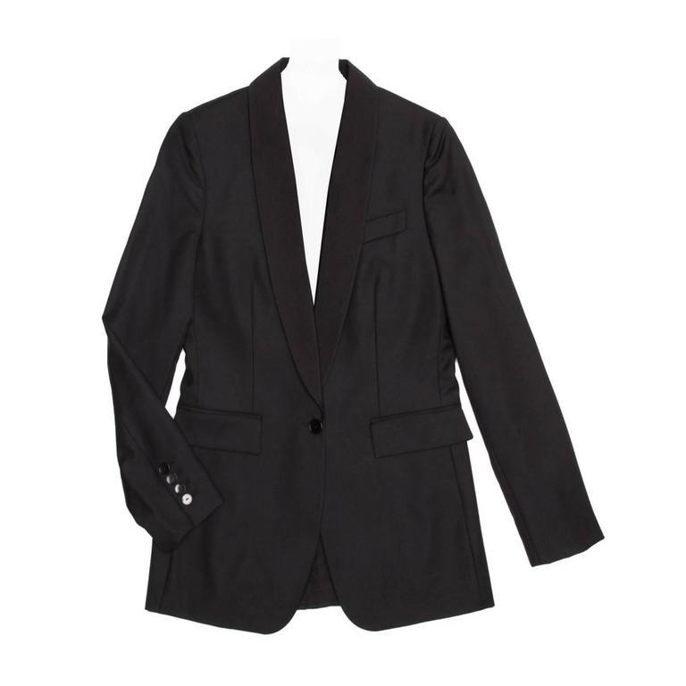 Stella McCartney Black Wool Tux Style Jacket