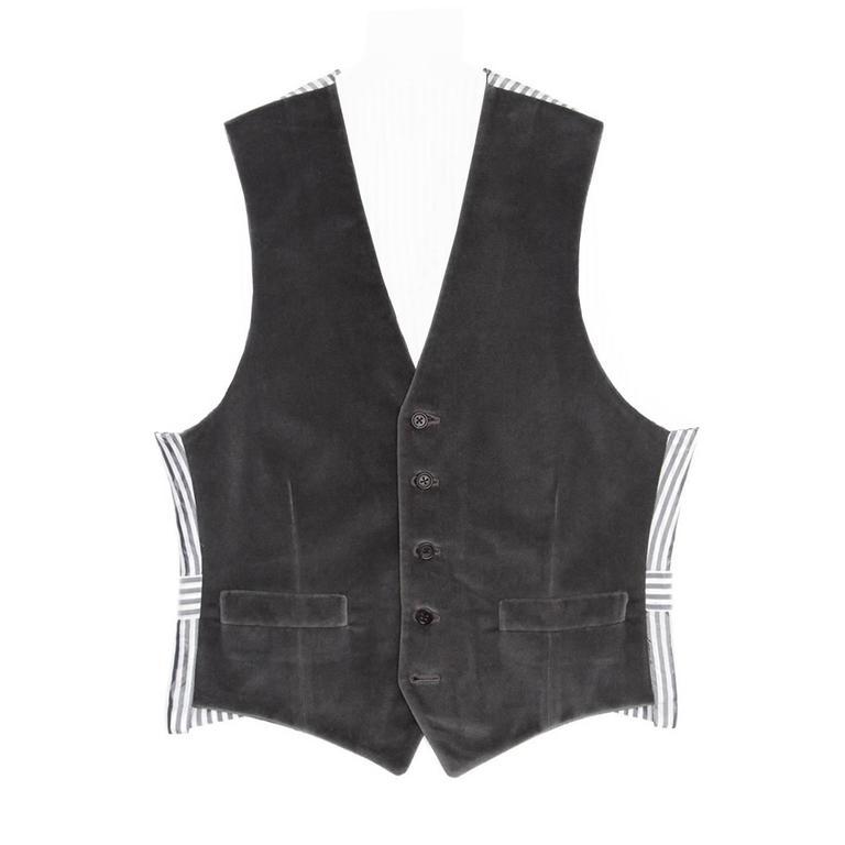 Thom Browne Grey Velvet Vest