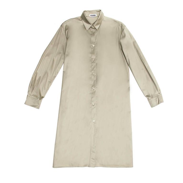 Jil Sander Khaki Cotton Shirt Dress 2