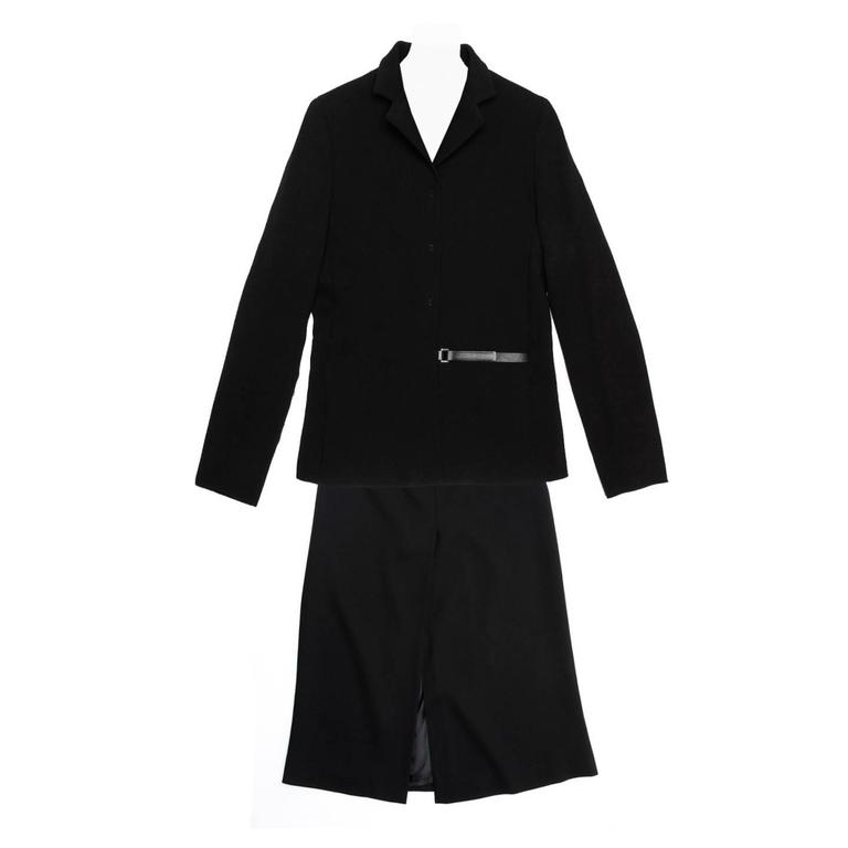 Prada Black Wool Skirted Suit