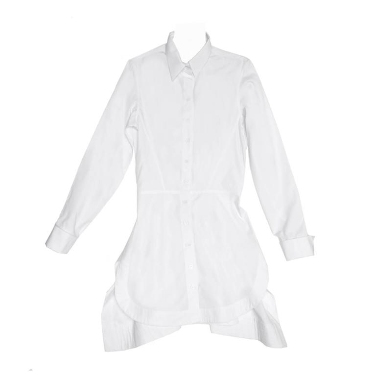 Alaïa White Long Cotton Shirt 1