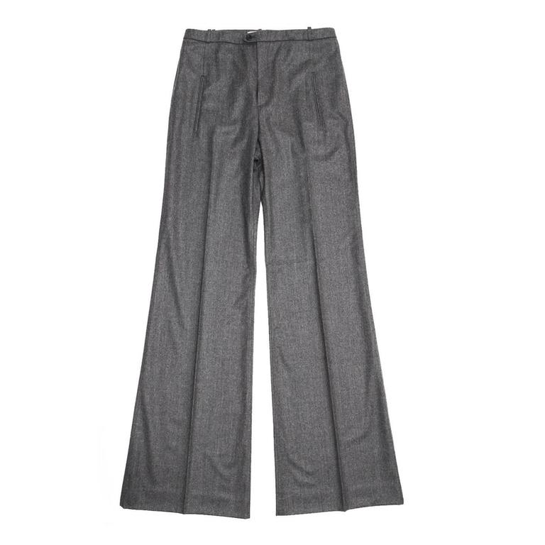 Balenciaga Grey Flannel Wide Legged Pants