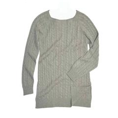 Brunello Cucinelli Grey Green Cashmere Sweater