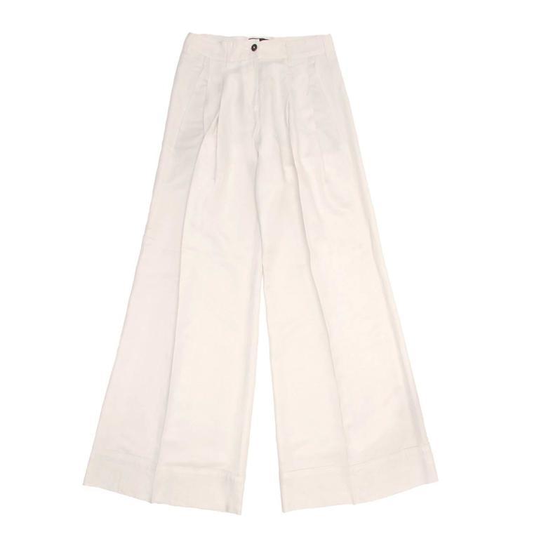 Ann Demeulemeester Ivory Wide Legged Pants
