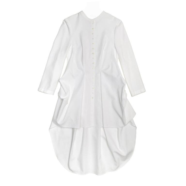 Alexander McQueen White Cotton Shirt Dress