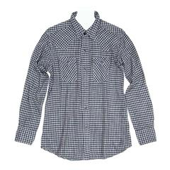 45rpm Blue & Grey Checked Shirt For Man