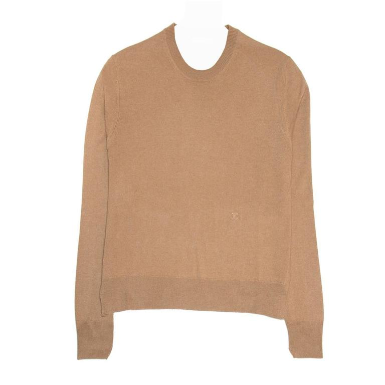 Celine Camel Cashmere Sweater at 1stdibs