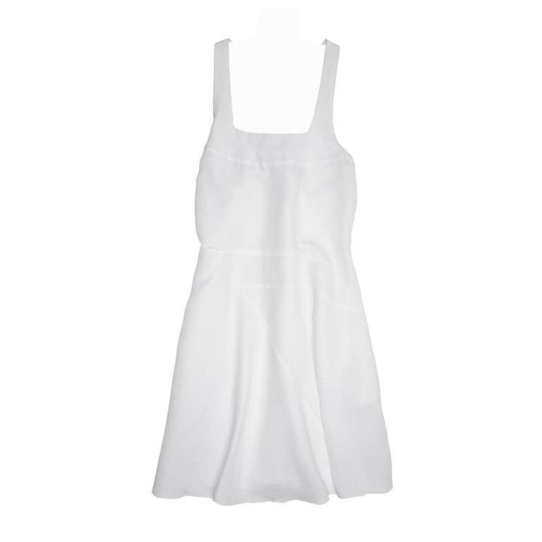 Chloe' White Ramie Dress