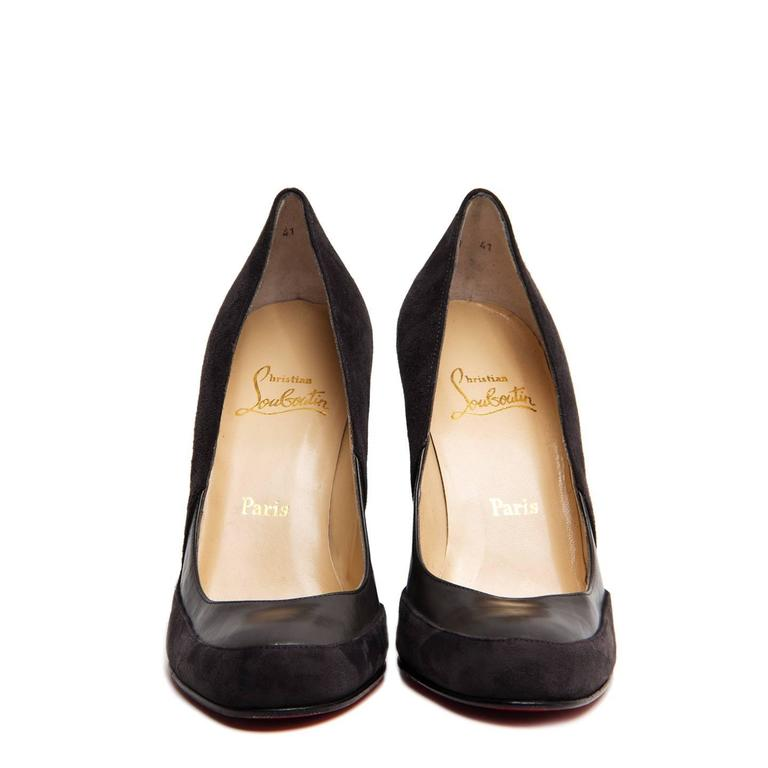 3012ce770165 Christian Louboutin Grey Suede and Leather Wedges For Sale at 1stdibs