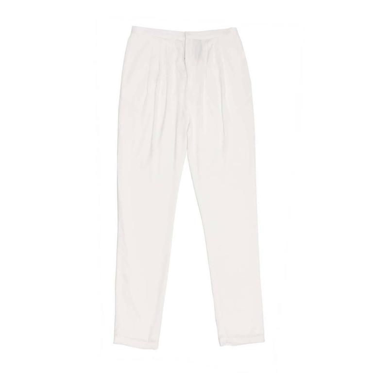 Band of Outsiders White Light Loose Pants For Sale
