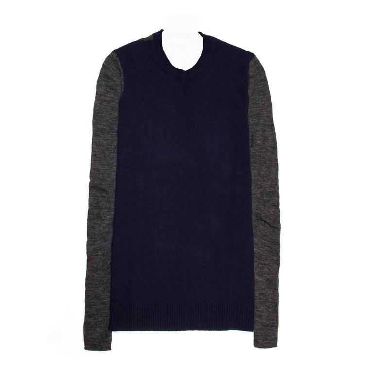 Celine Navy & Grey Cashmere Sweater