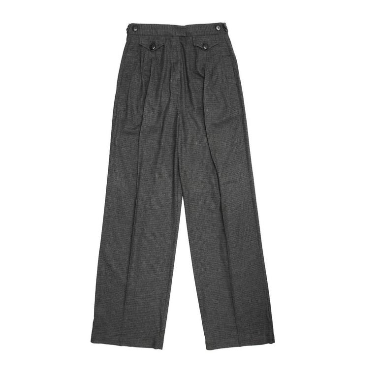See by Chloe' Grey Wool Plaid Pants