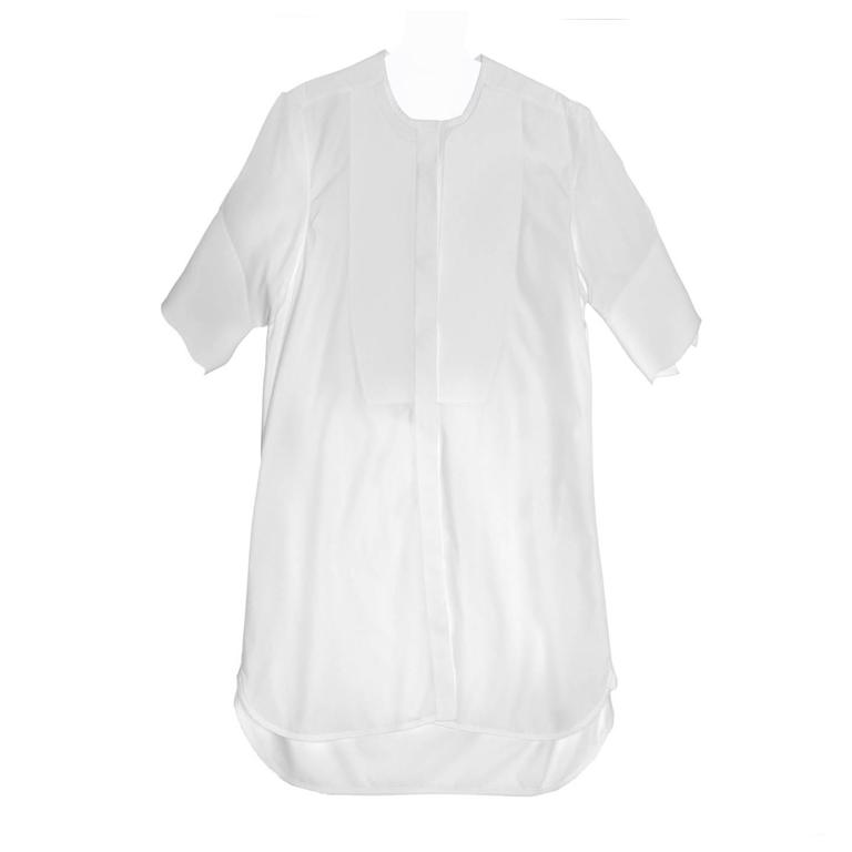 Celine White Cotton Short Sleeve Shirt