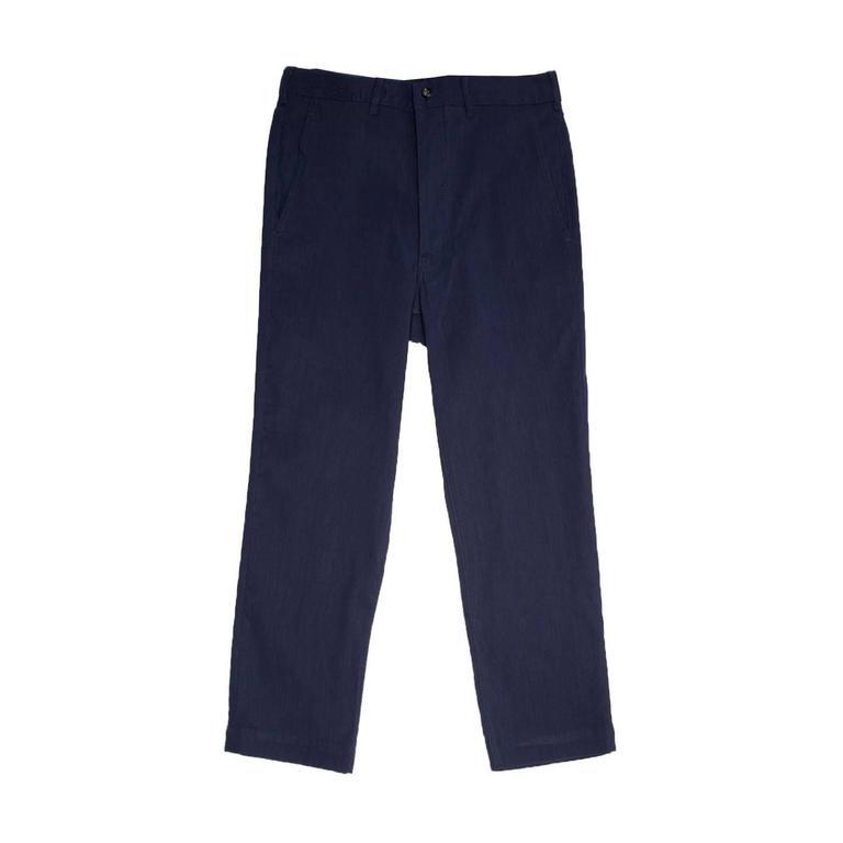 Comme des Garçons Navy Stretch Capri Pants