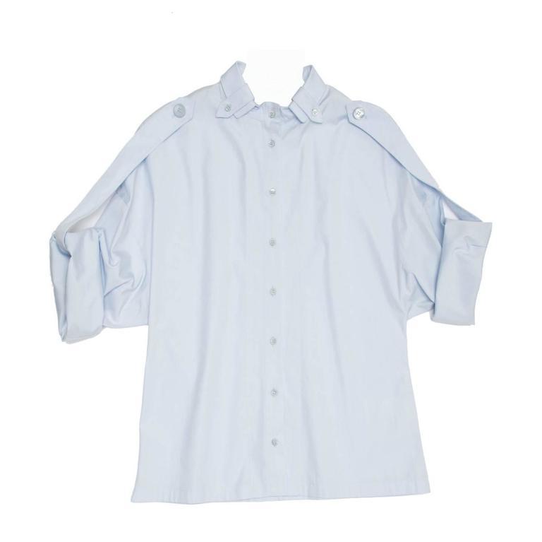 Givenchy Sky Blue Kimono Sleeved Shirt