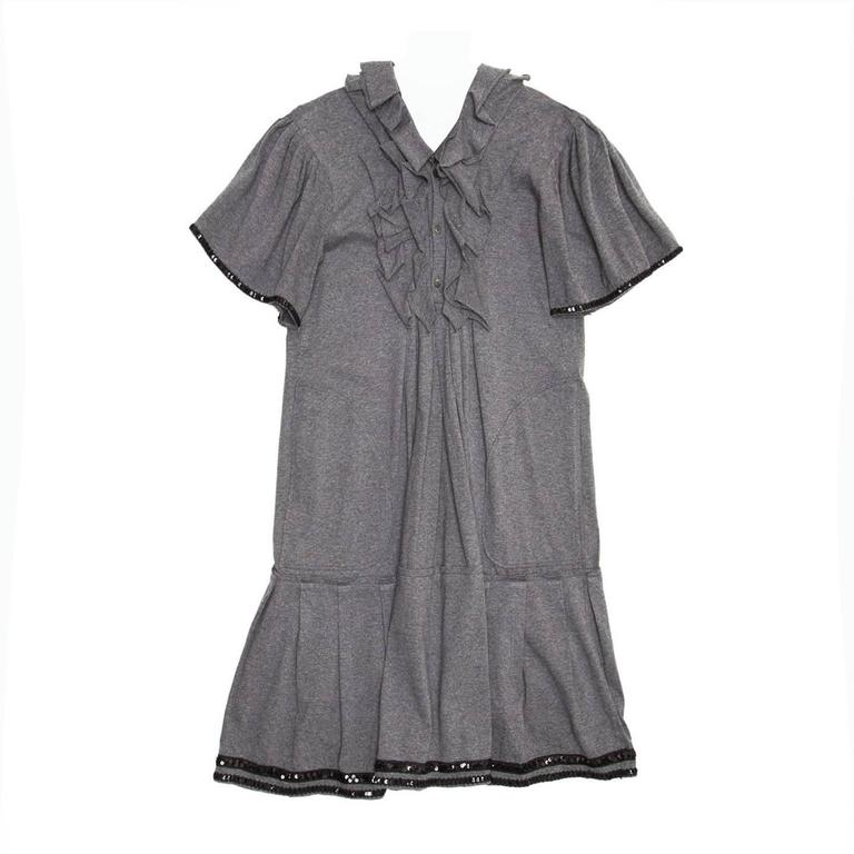 Junya Watanabe Grey Cotton Jersey Dress