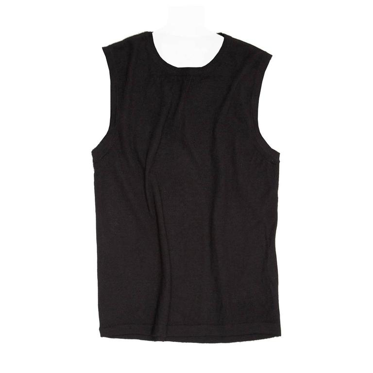 Fendi Black Cashmere Knit Vest