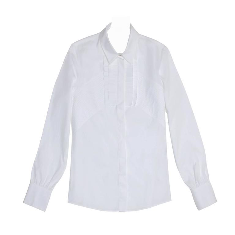 Givenchy White Cotton Shirt With Frills