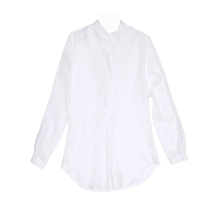 Gucci White Cotton & Silk Shirt