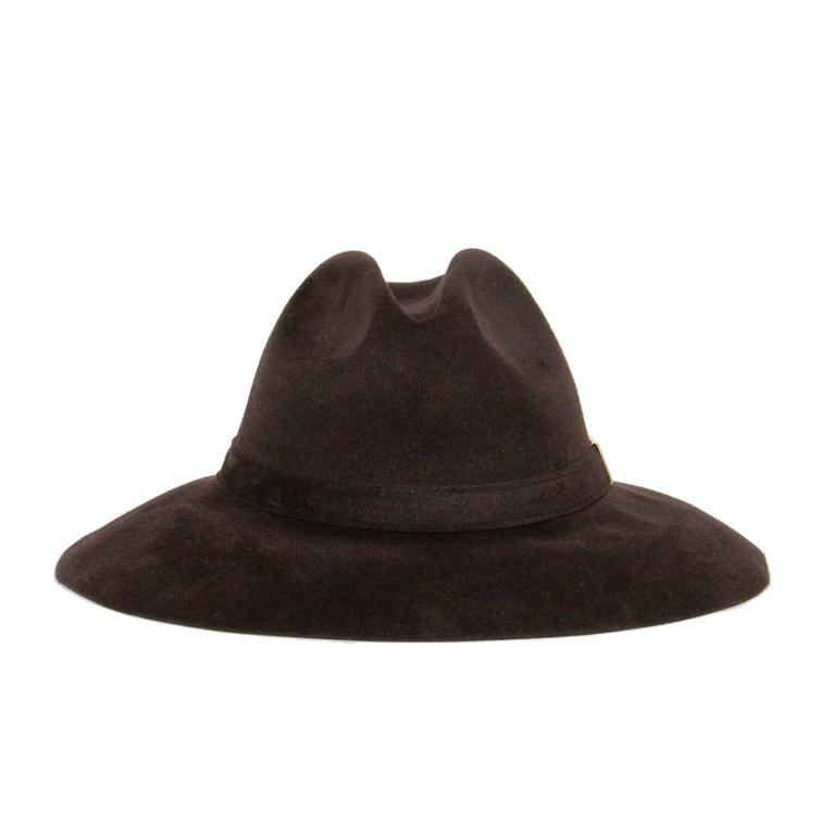 Women's Gucci Brown Rabbit Hair Hat For Sale