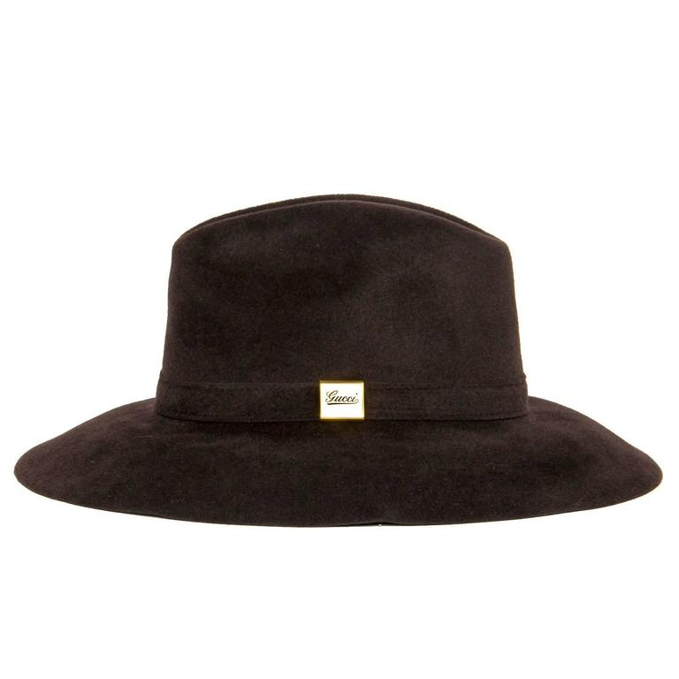Gucci Brown Rabbit Hair Hat 2