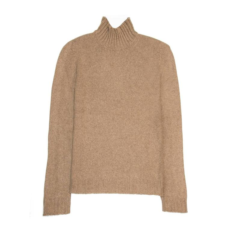 Hermès Camel Cashmere Sweater For Sale at 1stdibs