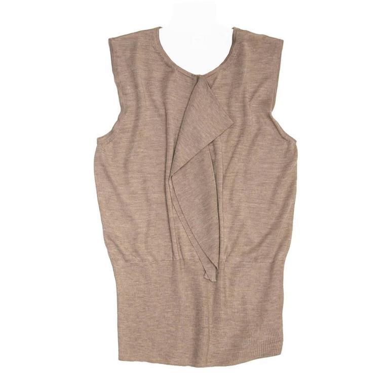 Hermès Sand Cashmere Sleeveless Sweater