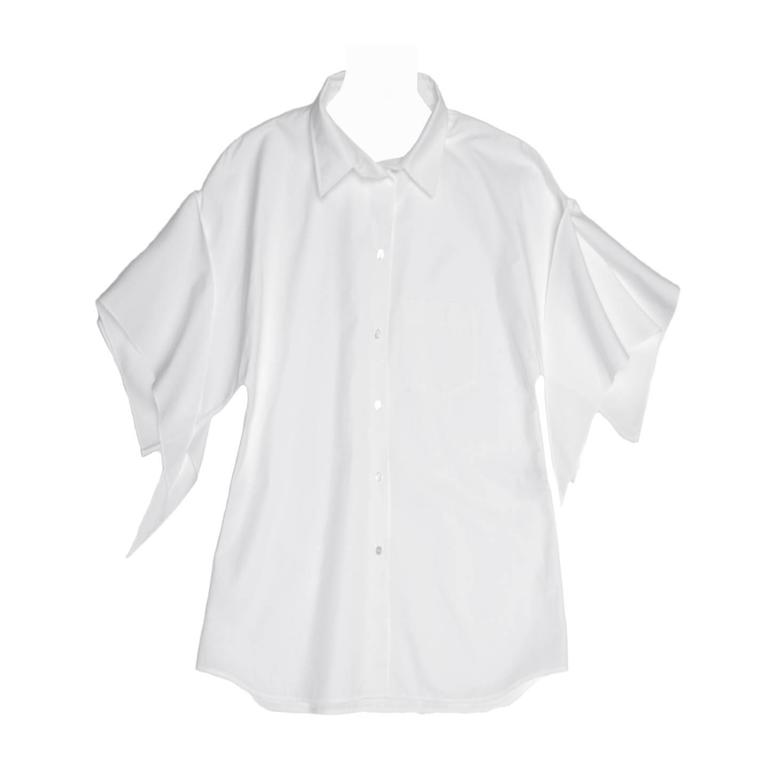 Hermès White Kimono Sleeved Shirt