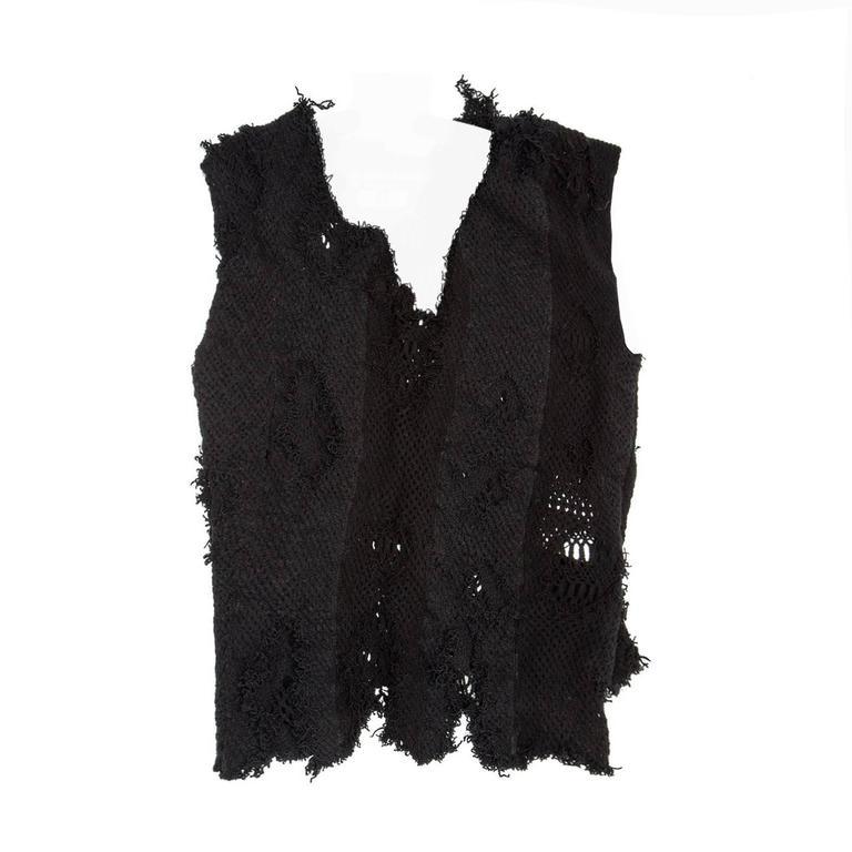 Junya Watanabe Black Stretch Knit Vest