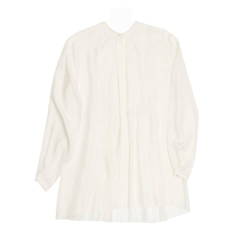 Lanvin Ivory Silk Shirt