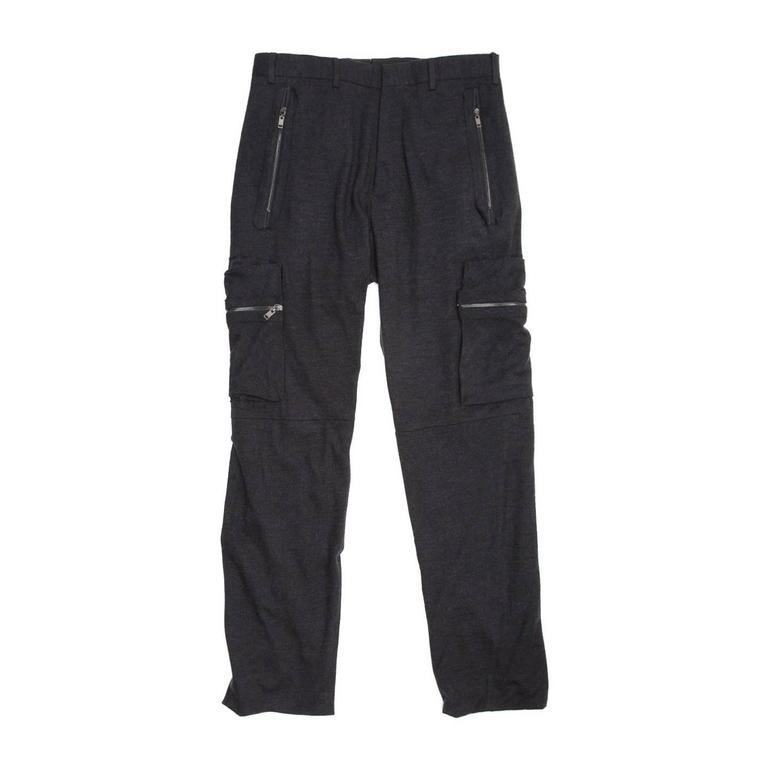 Lanvin Dark Grey Cargo Style Pants