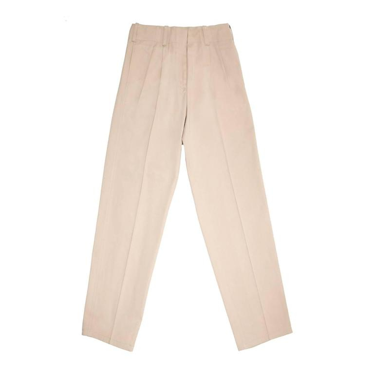 Jil Sander Khaki Heavy Cotton Pants