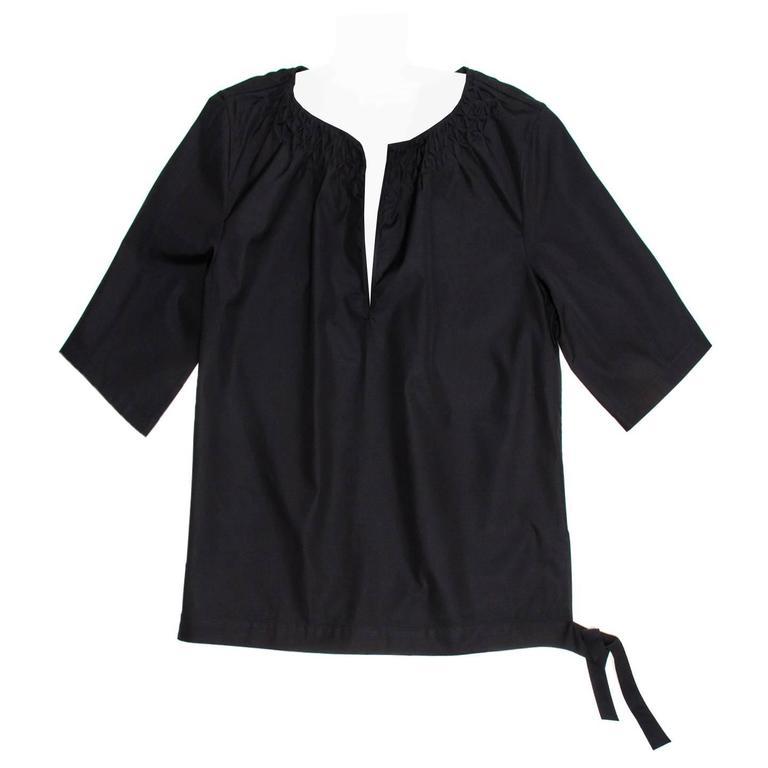 Jil Sander Black Cotton Top
