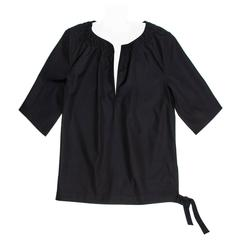 Jil Sander Black Cotton Top