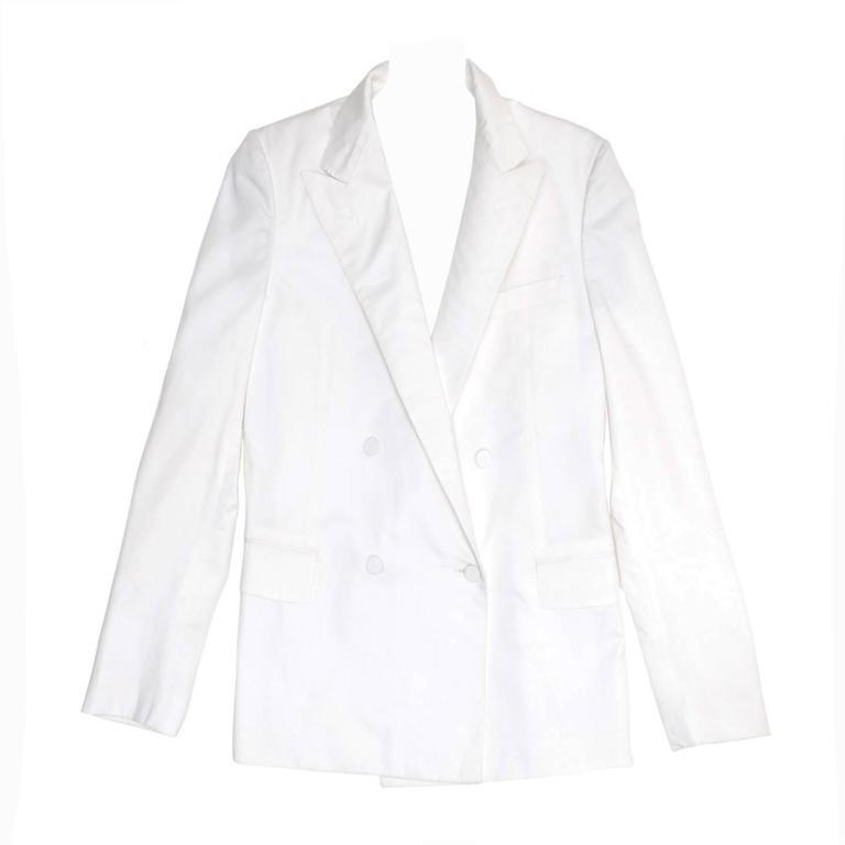 Lanvin White Cotton Boxy Blazer